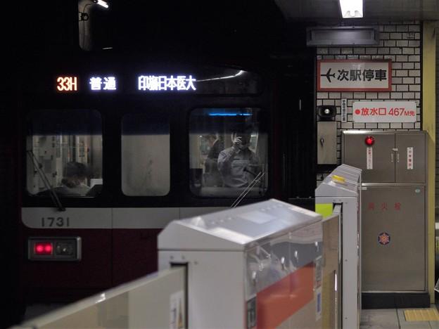 都営浅草線三田駅2番線 京急1731F普通印旛日本医大行き後方よし