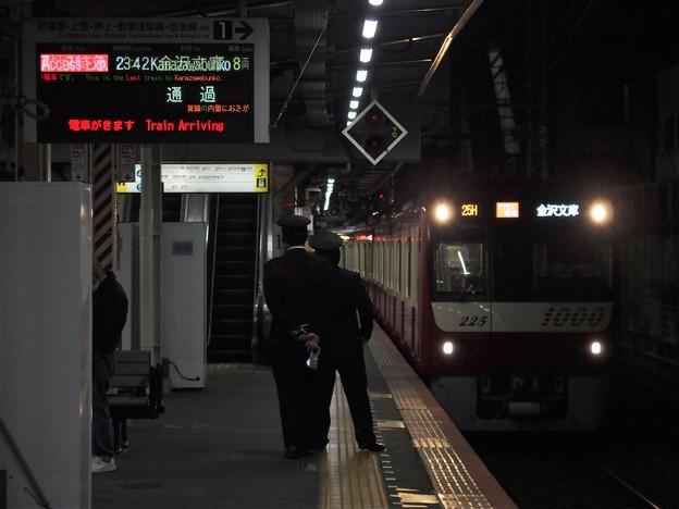 京成本線高砂駅1番線 京急1225Fアクセス特急金沢文庫行き進入