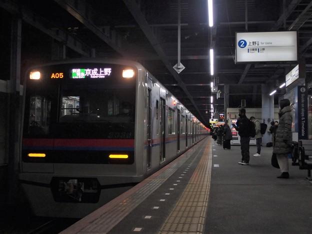 京成本線青砥駅2番線 京成3036F快速特急京成上野行き(3)