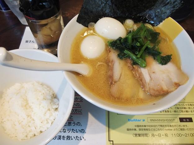 塩生姜らー麺専門店MANNISH 味玉神田マニ系らー麺参画家