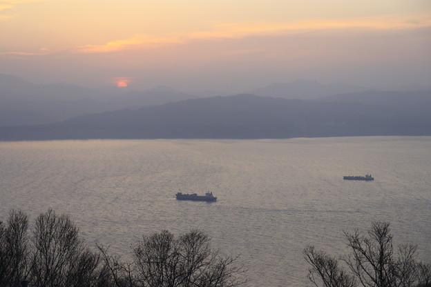 函館港の夕景