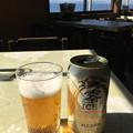 ビール越しに見る富士