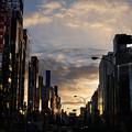 写真: 朝の靖国通り