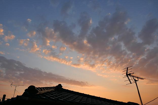 写真: 朝の空