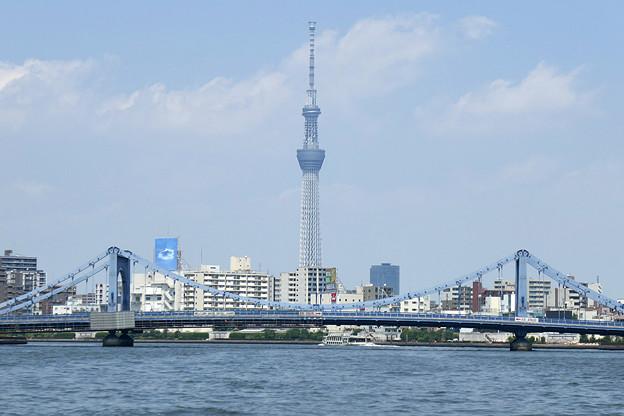 写真: 清洲橋とスカイツリー