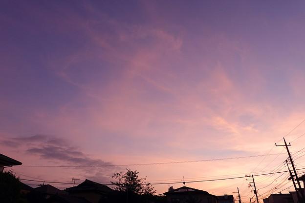 Photos: 日の出直前の空