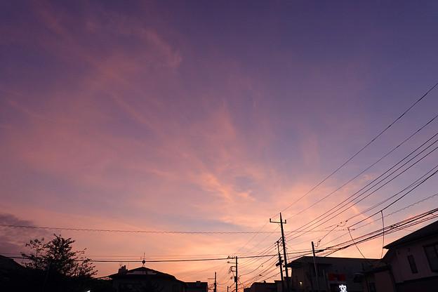 日の出直前の空