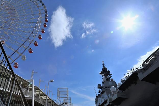 観覧車と護衛船