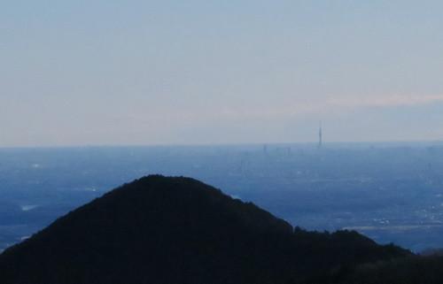 御岳山駅から見たスカイツリー
