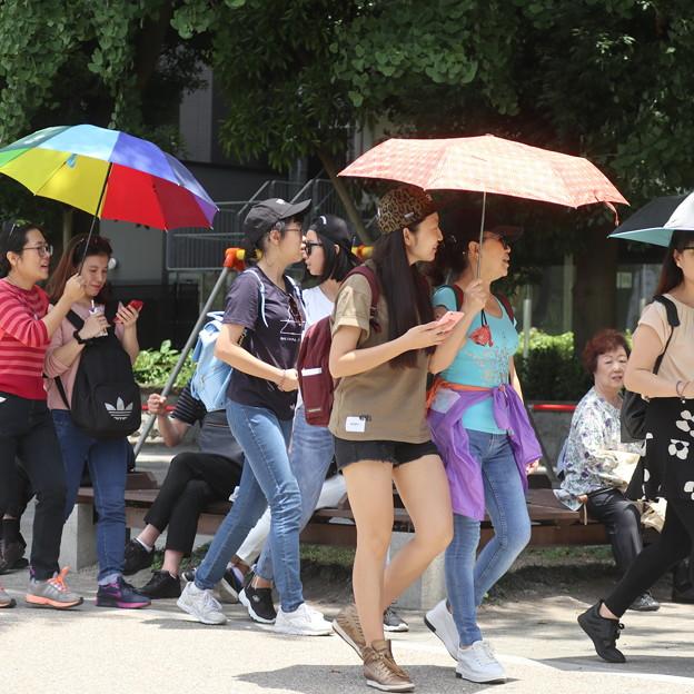上野池之端夏日の 観光客