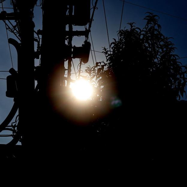 夕刻の太陽