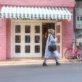 写真: 街はピンク♪