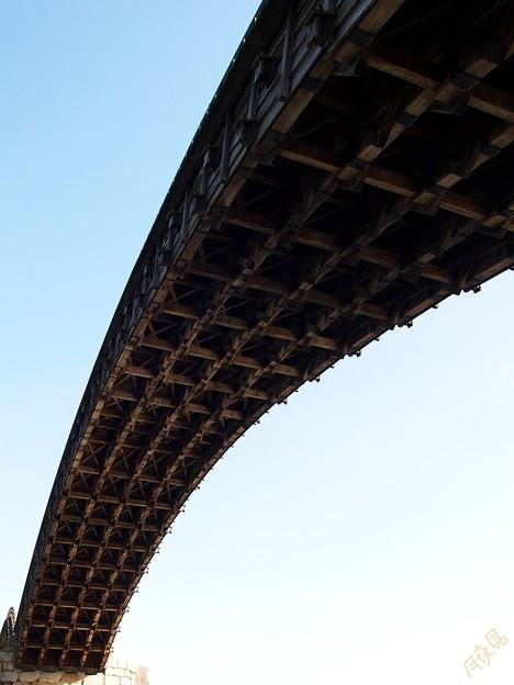 錦帯橋 下から
