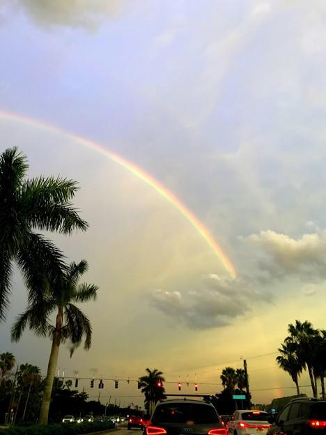写真: A Rainbow in Rainy Evening 7-11-18