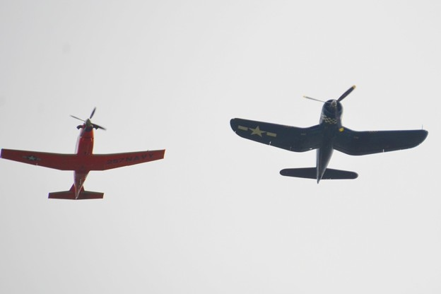 Legacy Flight T-6B Texan II and FG-1D Corsair 11-3-19