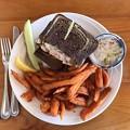 Grouper Ruben Sandwich with Sweet Potato Fries 6-2-19