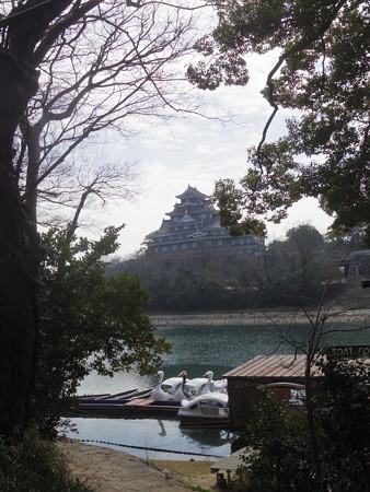 2月の岡山城眺望(2019)