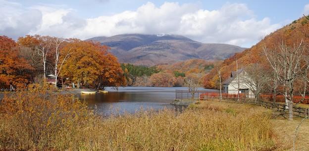 長老湖の秋