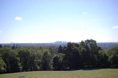Robbins Farm Parkの丘から見た景色