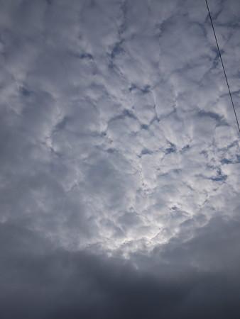 今朝の空(これは夏雲?秋雲?)