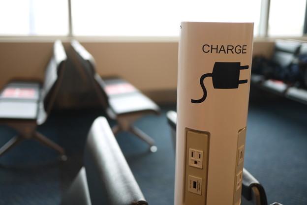 空港で充電できるとは(感動)@北海道一人旅