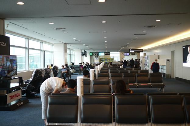空港内は人は少ないですね@北海道一人旅