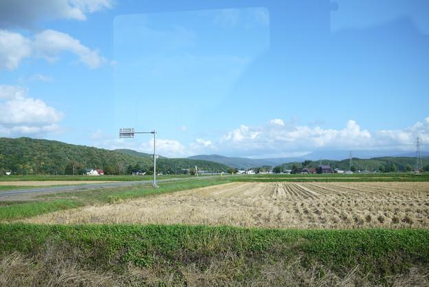 田園が続きます、ひろいなー@北海道一人旅