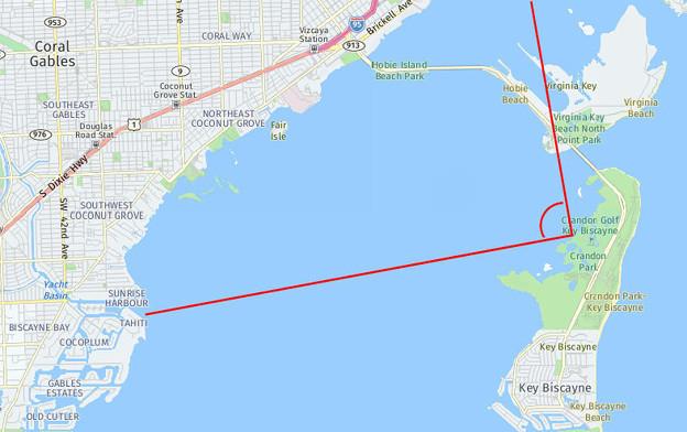 Key Biscayne view map
