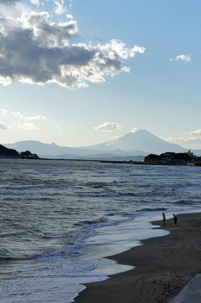 七里ヶ浜の夕日3