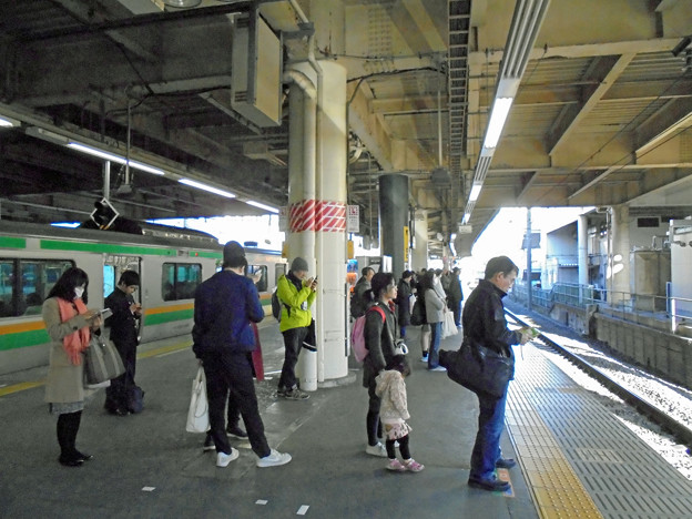 JR藤沢駅東海道線ホーム