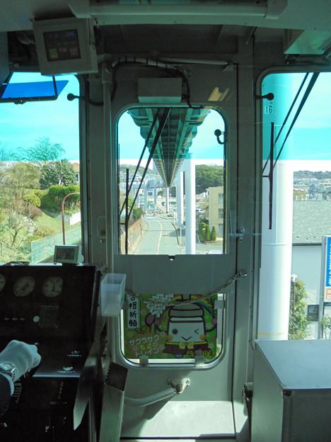 モノレール運転席の車窓2