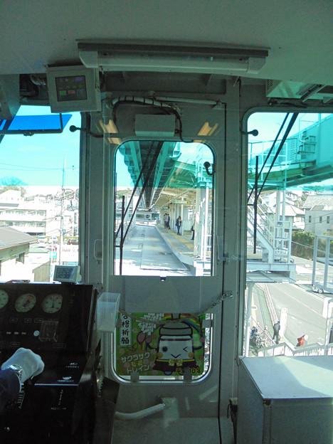 モノレール運転席の車窓4