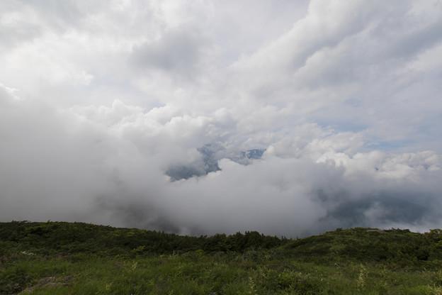 写真: 白馬連峰はいずこ・・・