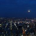 写真: 都会の名月