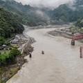 Photos: 流出の球磨川第一橋梁