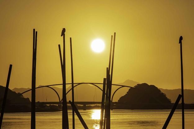 河口の夕暮れ