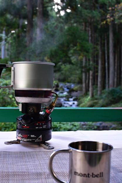 Photos: 洞川にて お湯沸きました!