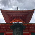 Photos: 雨雲と根本大塔