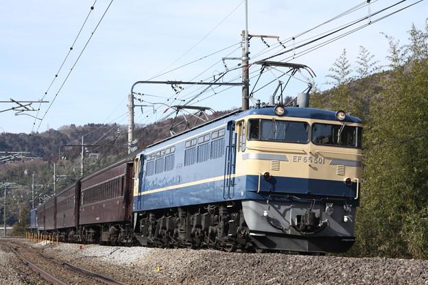 EF65-501+旧型客車+EF60-19 上越線試運転