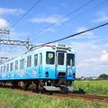 写真: 養老鉄道600系(大垣市制100周年記念ラッピング)