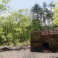 Photos: 新緑の五右衛門風呂兼薪小屋