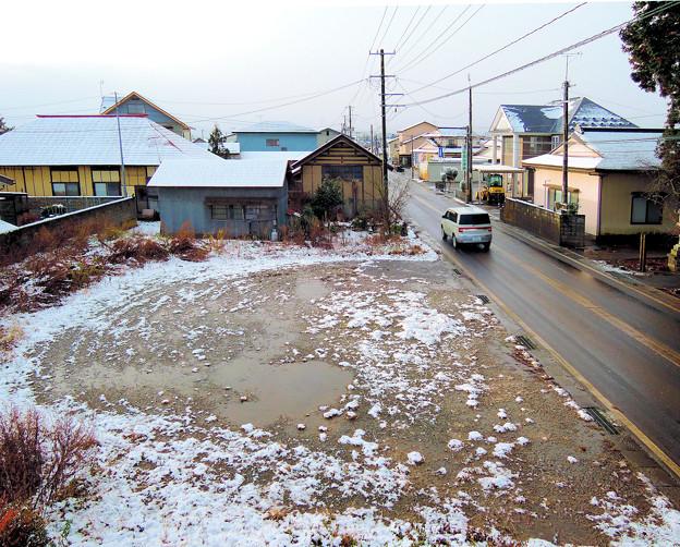12;14初雪降る