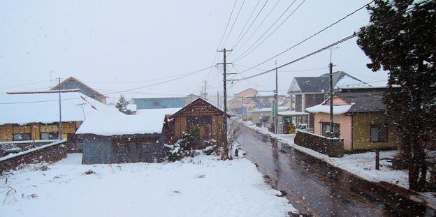 (1)雪降る窓辺