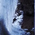 写真: 厳冬の丸森地蔵滝
