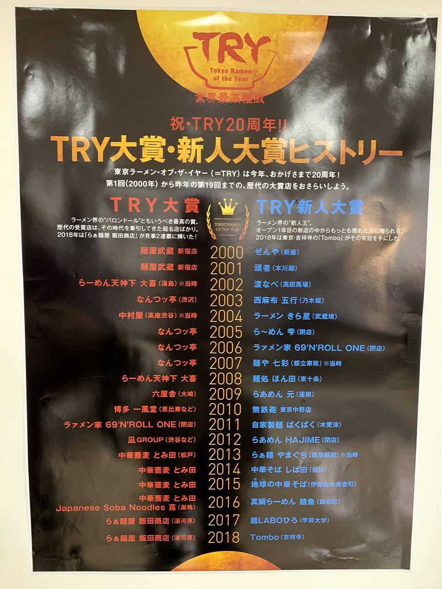 TRYラーメン大賞受賞店