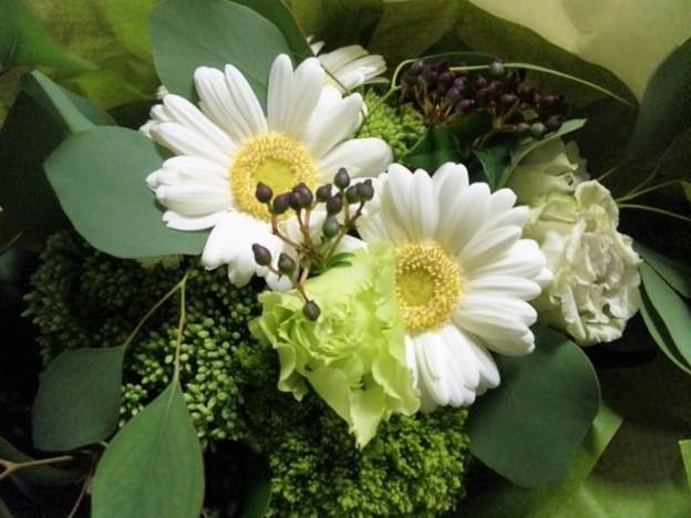 結婚記念日の花束。