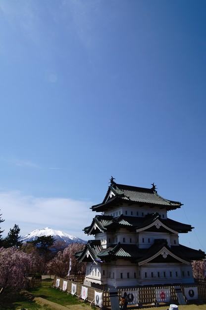引っ越しのお城と岩木山