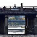 Photos: 2018_1125_132811 三条大橋から四条大橋を覗き見る