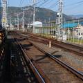 Photos: 2009_1206_101446 八幡市駅下手の渡り線