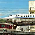 Photos: 2019_0908_141346 京都駅を発つ新幹線と近鉄電車